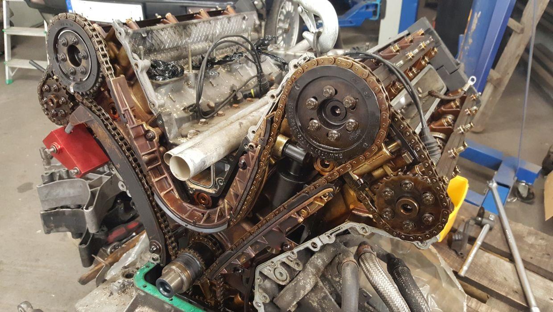 BMW M62B44 start na M60 zmiana i ustawienie rozrządu, czujników