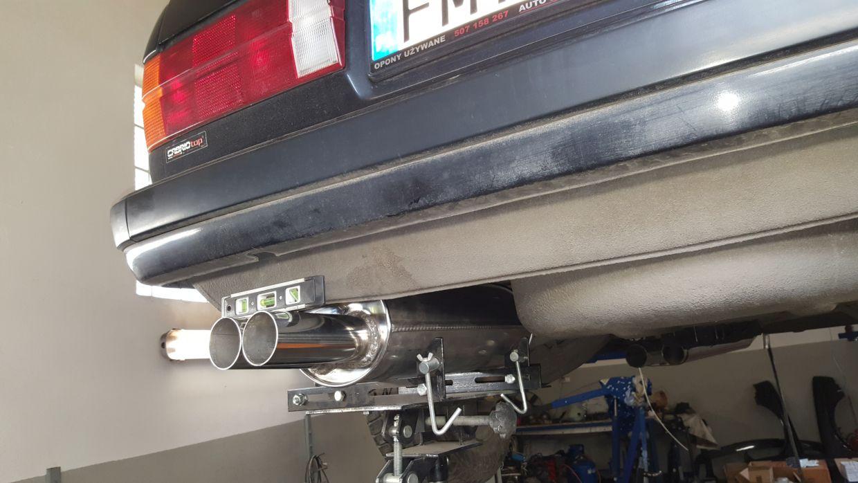 E30 swap v8 M60 M62 S62 układ wydechowy x-pipe tłumik końcowy