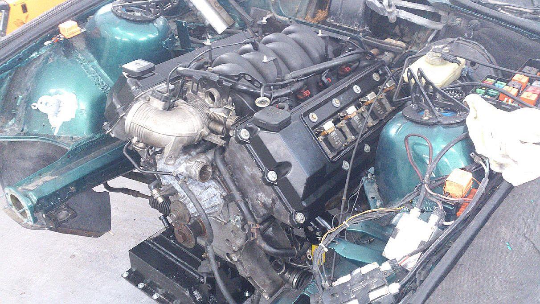 M60 montaż silnika w karoserii E36 Coupe