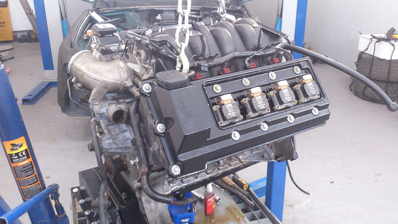 M60B40 B44 składanie silnika kolektory, pokrywy zarowów, wtryskiwacze